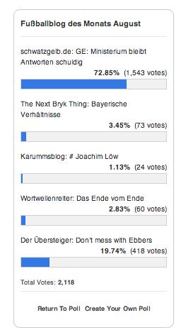 Abstimmung Fußballblog 08:13